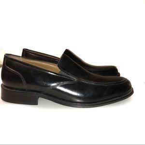 Bass Siegel Split Toe Black Leather 12M